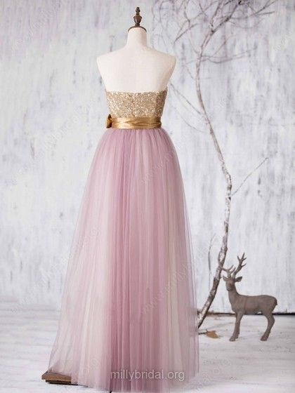 Princess Sweetheart Multi Colours Tulle Sashes / Ribbons Unique Bridesmaid  Dresses #Milly01012727