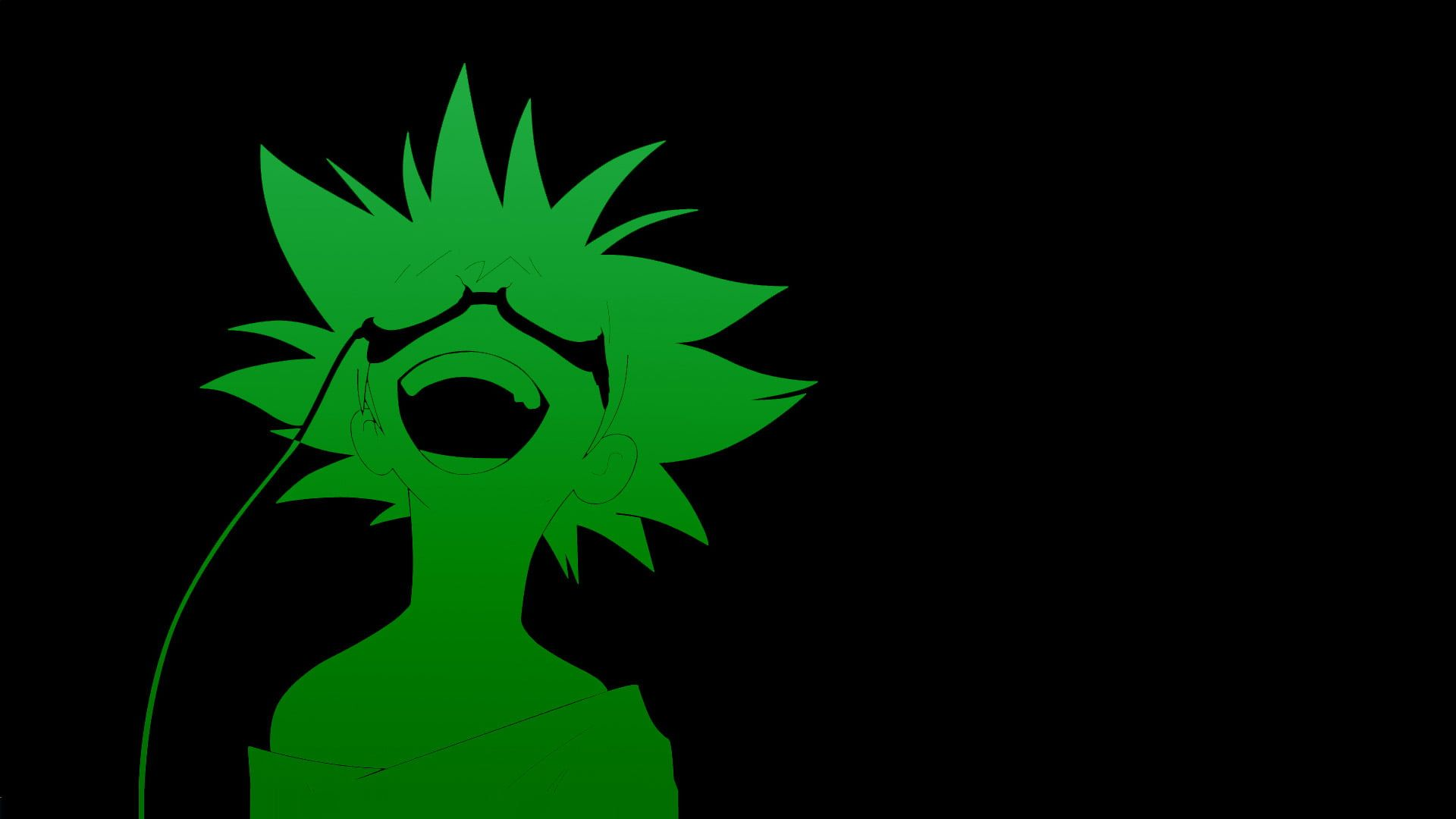 Green Silhouette Of Boy Wallpaper Cowboy Bebop Anime Green Black Background Anime Boys 1080p In 2021 Cowboy Bebop Wallpapers Anime Wallpaper Android Wallpaper Anime