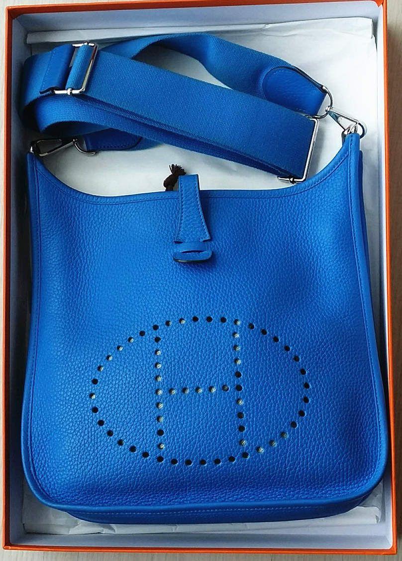 Hermes Evelyne Bag Blue