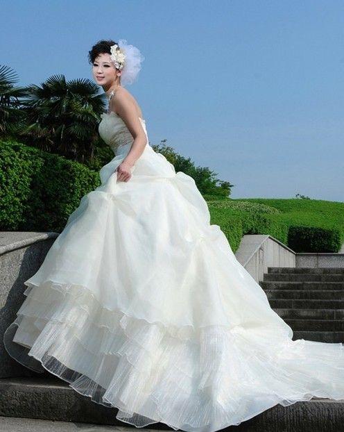 Multi Levels Halter Wedding Dress White Http