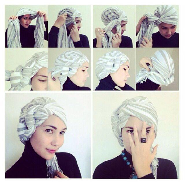 How to Tie Fashion Turban Trend Tutorial | hijab | Turban