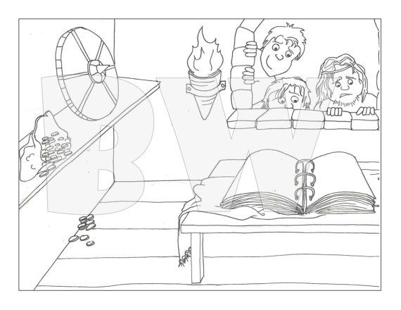 Nephi Getting The Plates Coloring Pages Nephi Etsy
