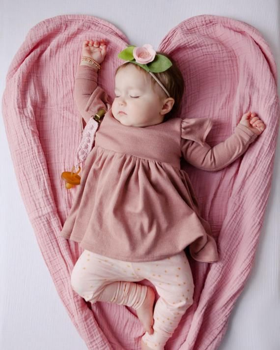 Photo of Pink moon and stars baby girl leggings, baby girl pants, newborn leggings