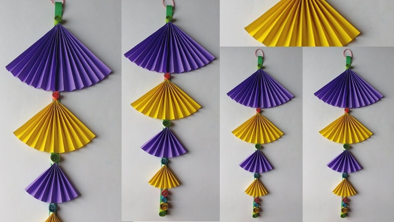 How To Make Paper Wall Hanging Very Easy And Simple Way Decoration