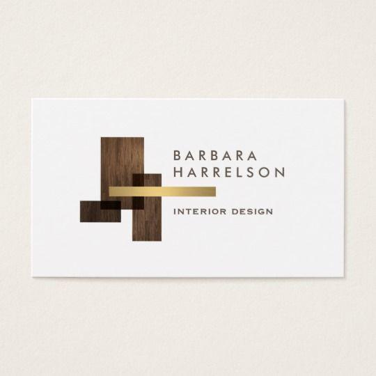 Modern Architectural Interior Design Logo Business Card Zazzle