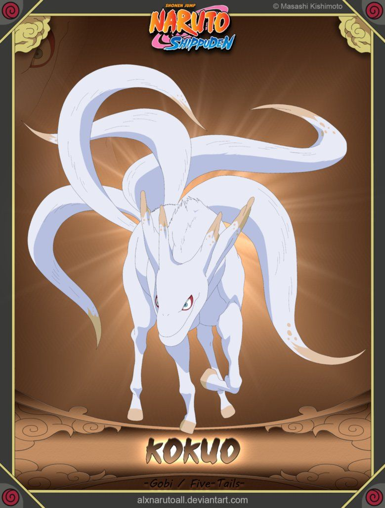 kokuo 5 tailed demon dolphin horse jinchuriki han naruto