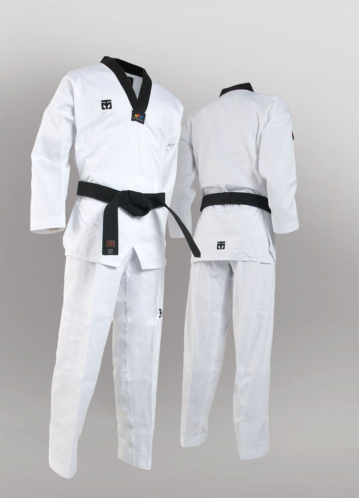 Black Collar uniform DOBOK tae kwon do FIGHTER Korea TKD TaeKwonDo DAN uniforms