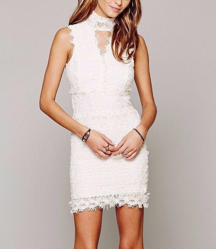NEW FREE PEOPLE $335 Lace Bodycon Dress NIGHTCAP Victorian ...