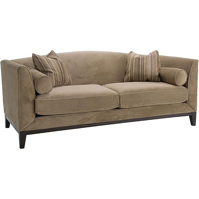 Attrayant Portofino Camel Fabric Velvet Sofa Will Add Sophistication To Your Home  DecorFashionable Furniture Features A Sturdy Cherry Hardwood Base FrameSofa  Also ...