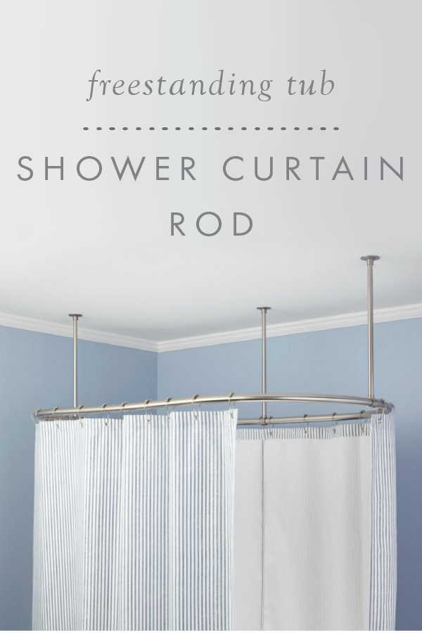 Oval Solid Brass Shower Curtain Rod | The Signature Bathroom ...