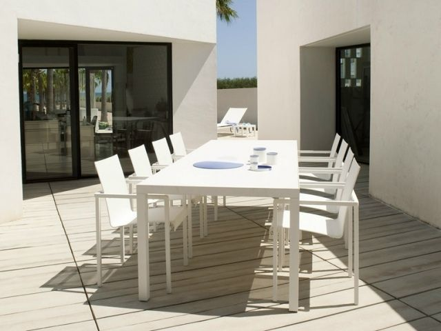Stunning Table De Jardin Blanche Design Photos - Amazing House ...
