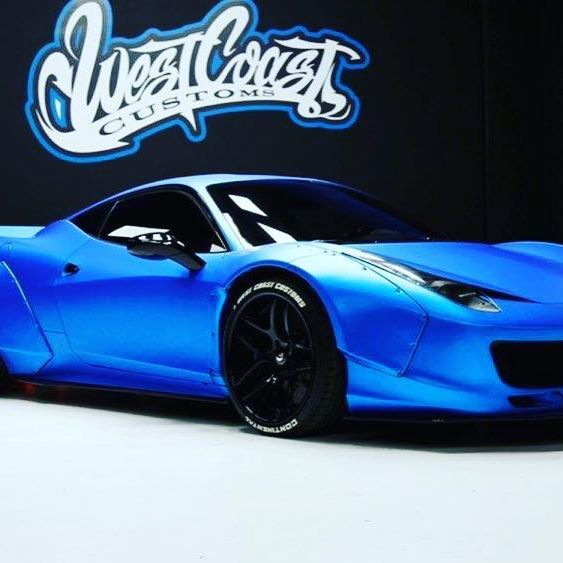 #ferrari #ferrariworld #ferrari458 #libertywalk #bodykits #libertywalkperformance #blueferrari #justinbieber #justinbiebercars #westcoastcustoms #auctioncars #tgif