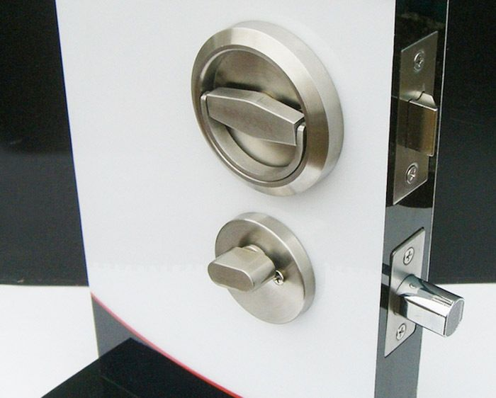 Door Locks Stainless Steel 304 Recessed Cup Handle Privacy Door ...
