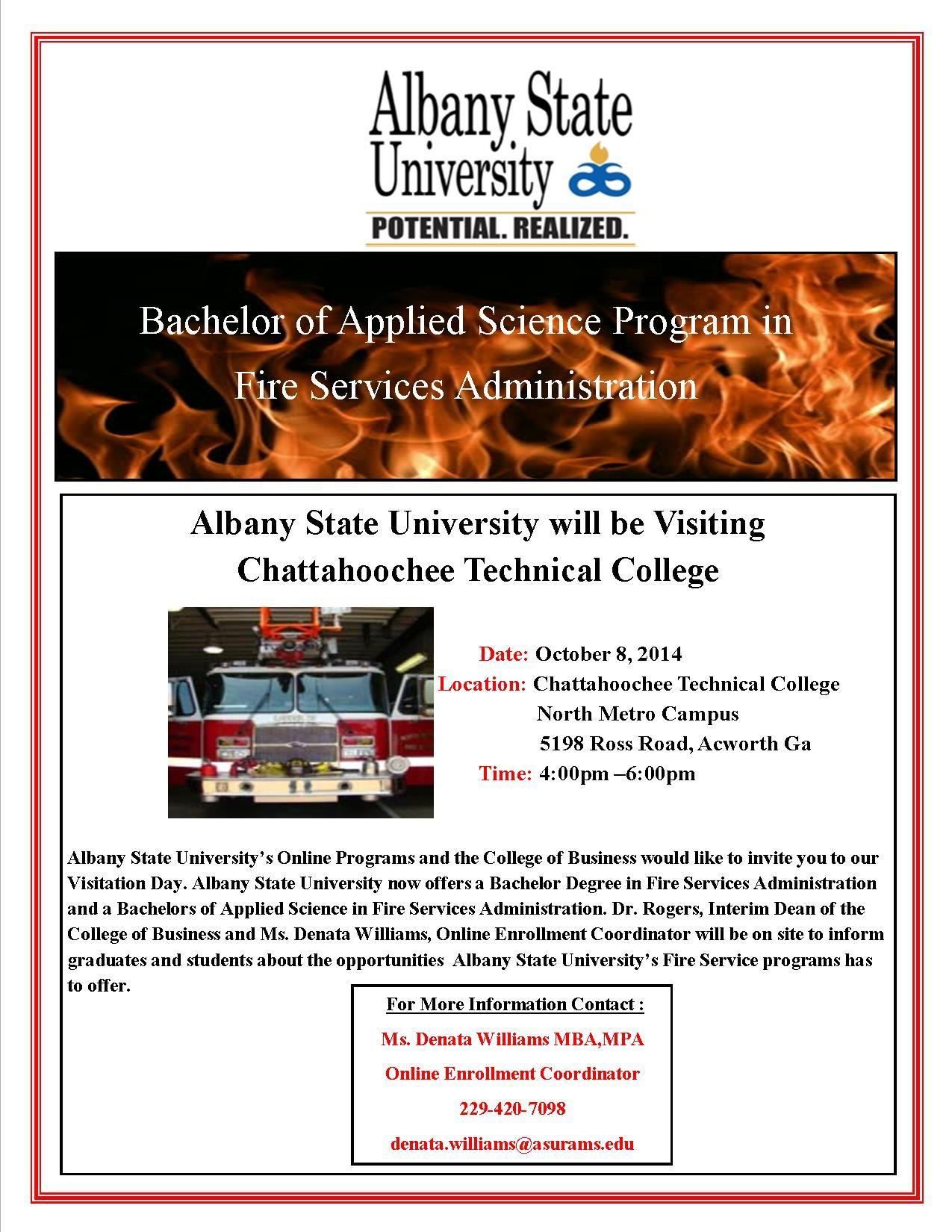 Albany state university is visiting chattahoochee