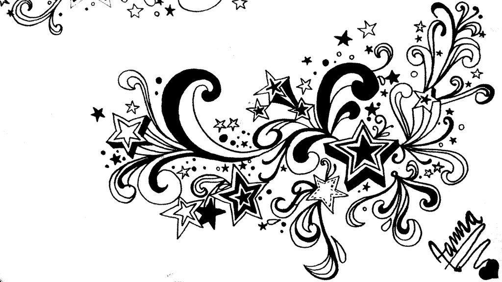 swirl and stars tattoos - Google Search