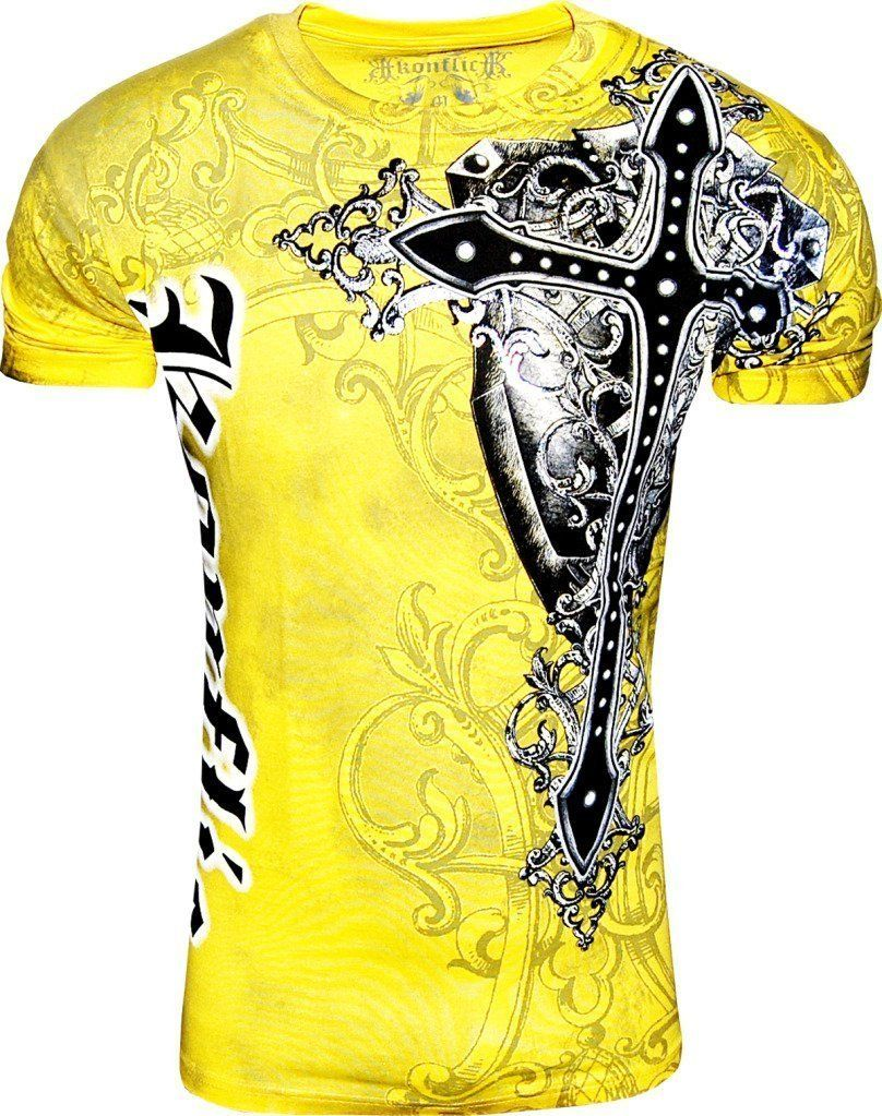 e5666bb7 Konflict NWT Men's Giant Cross Graphic Designer MMA Muscle T-shirt ...