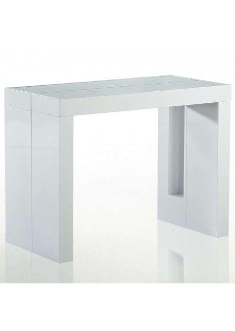 Table Console Teomax Blanche