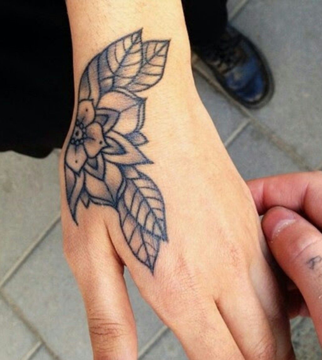 Hand Flower Tattoo Hand Tattoos Hand Tattoos For Women Traditional Hand Tattoo