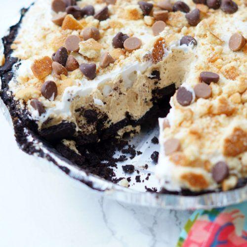 Double Cookie No Bake Peanut Butter Pie