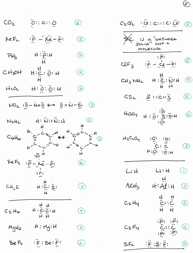 Lewis Structure Practice Worksheet New Chemistry 162 Exam