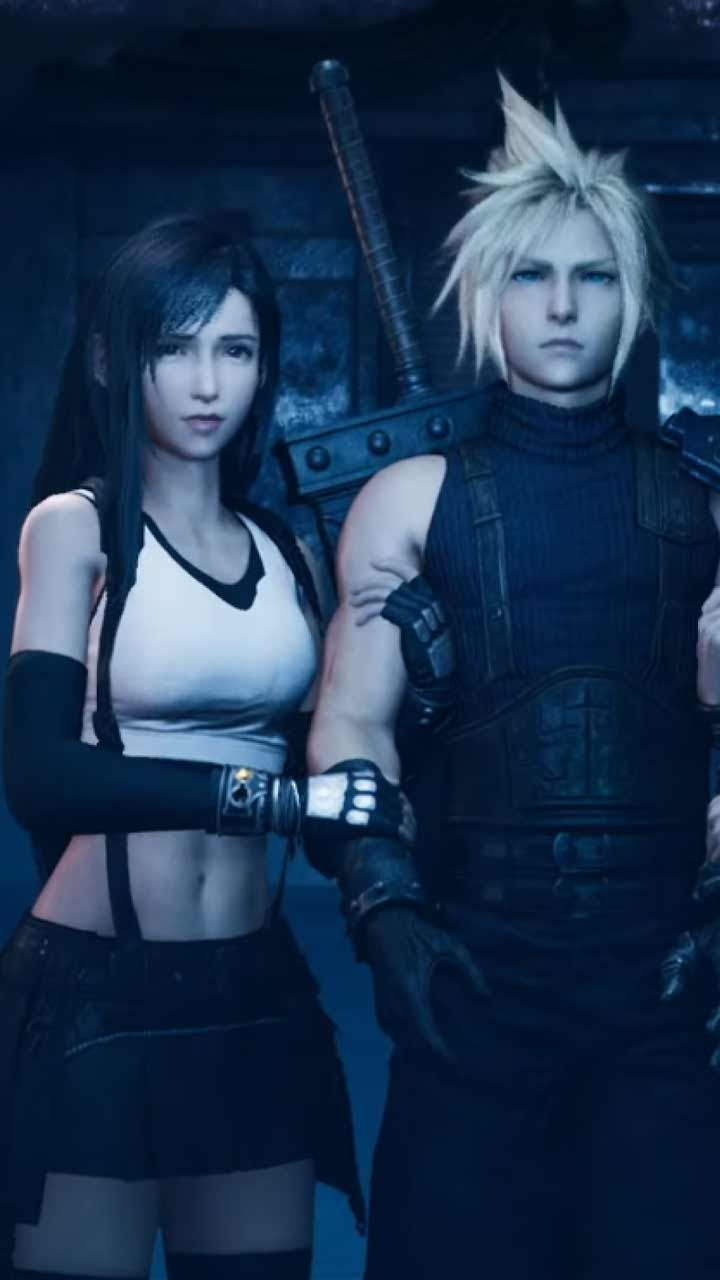 Final Fantasy 7 Remake Wallpaper Hd Phone Backgrounds Ps4 Game Art Poster Logo On Iphone Android Cloud And Tifa Final Fantasy Final Fantasy Characters