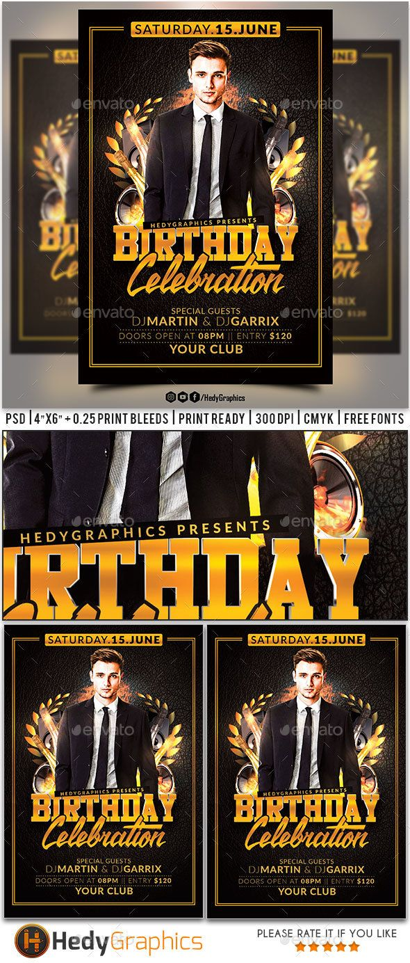 Birthday Flyer  Flyer Template Template And Birthdays