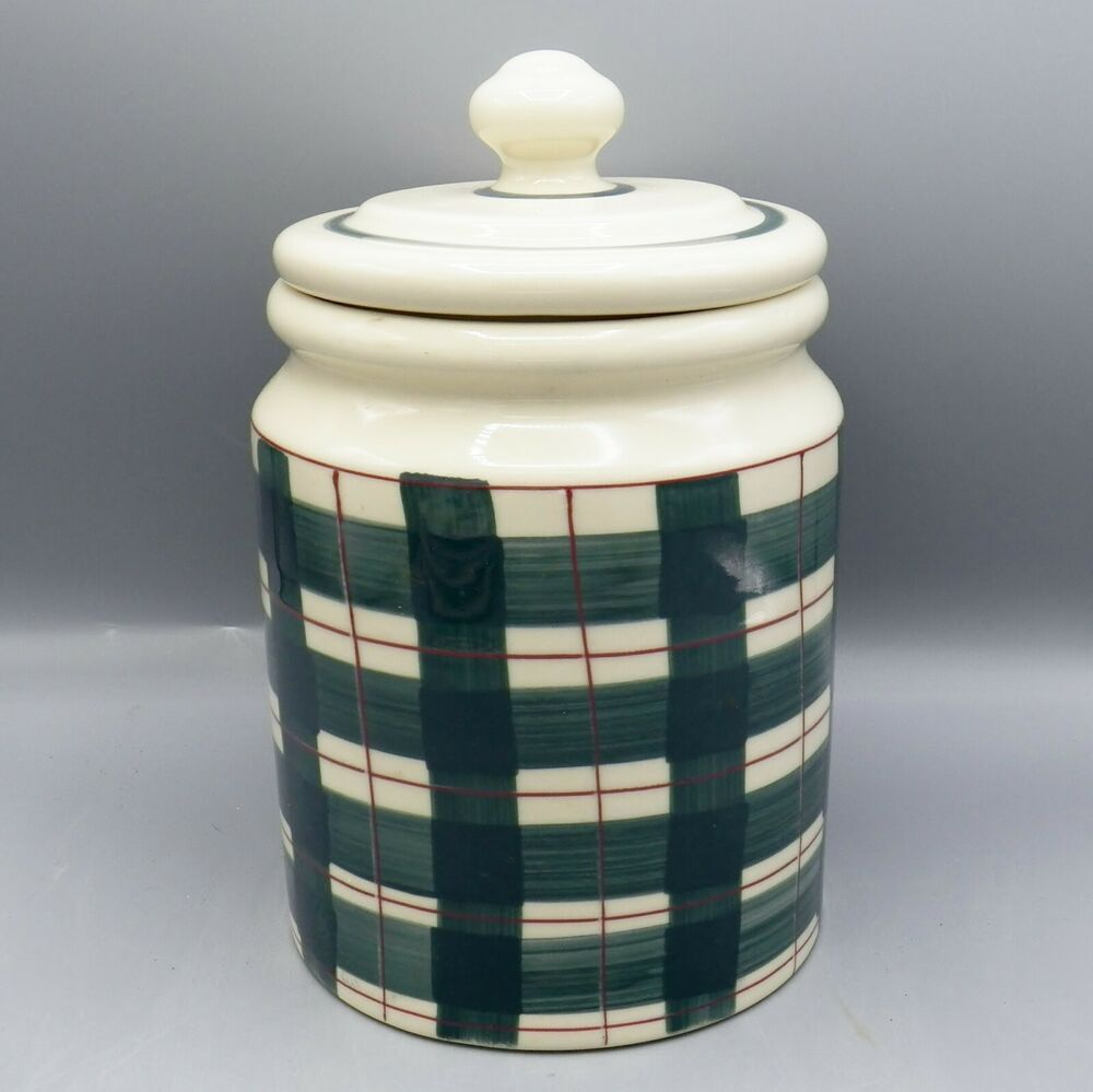 Hartstone buffalo check canister xl 5 lb green red plaid