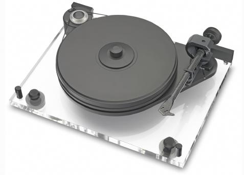 ProJect 6 Perspex Turntable Inc Evolution ToneArm Pro