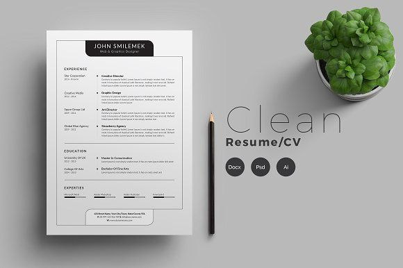 Resume/CV by Designsbird on @creativemarket Resume Templates - cv vs resume