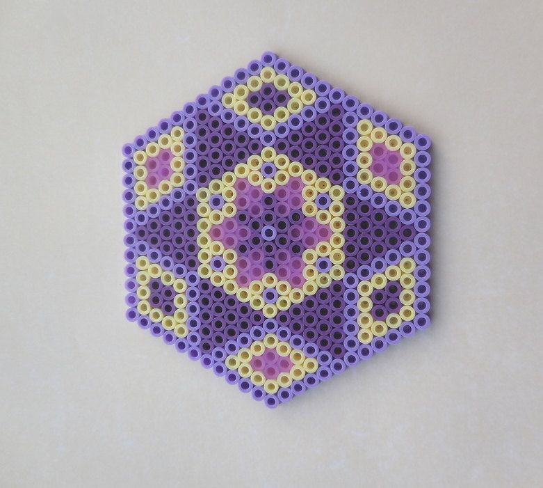 Purple Coaster Hama Beads by TCAshop