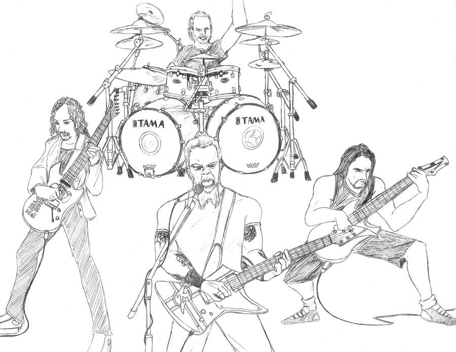 Fan Art: Metallica by ~Lil-q2 on deviantART | Horrible Fan Art ...
