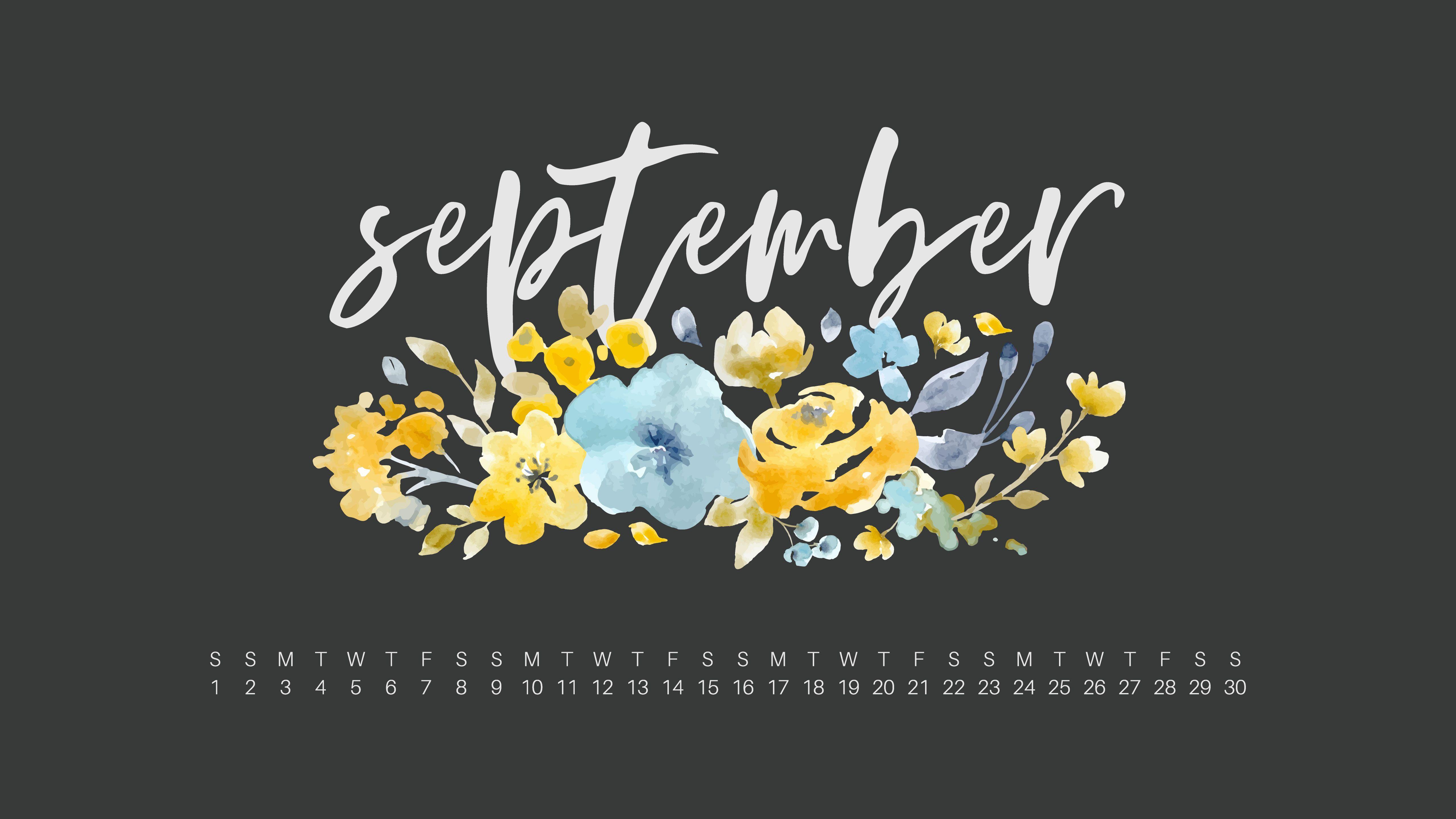 Floral September 2019 Calendar Wallpaper For Pc Calendar Wallpaper September Wallpaper Wallpaper Pc