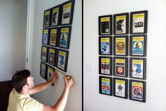 Playbill frames | For the Home | Pinterest | Playbill display, Dorm ...