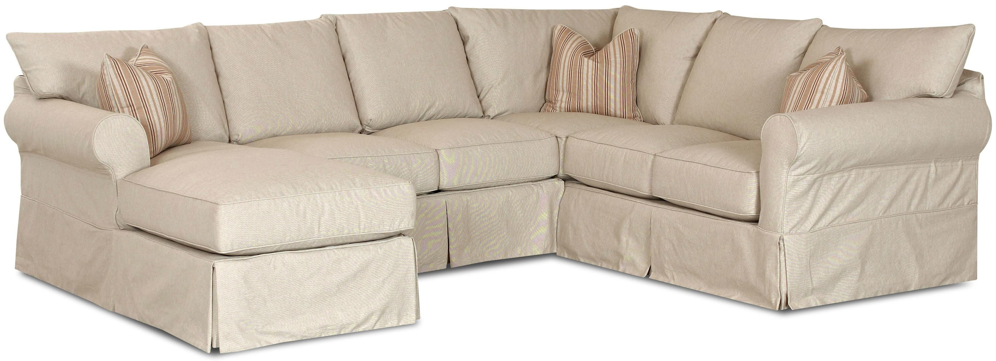 Slipcover Sectional Couch Chaise