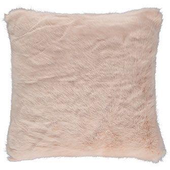 Nude Faux Fur Cushion
