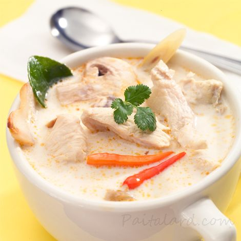 Coconut Chicken Soup (Tom Kha Kai). This soup dish brings all the familiar flavors of authentic Thai cuisine, and is quite delicious!
