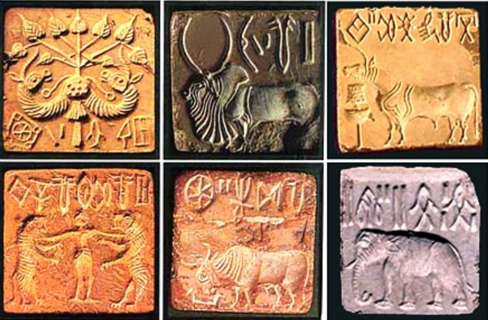 Stone Seals From Mohenjodaro Mera Pakistan