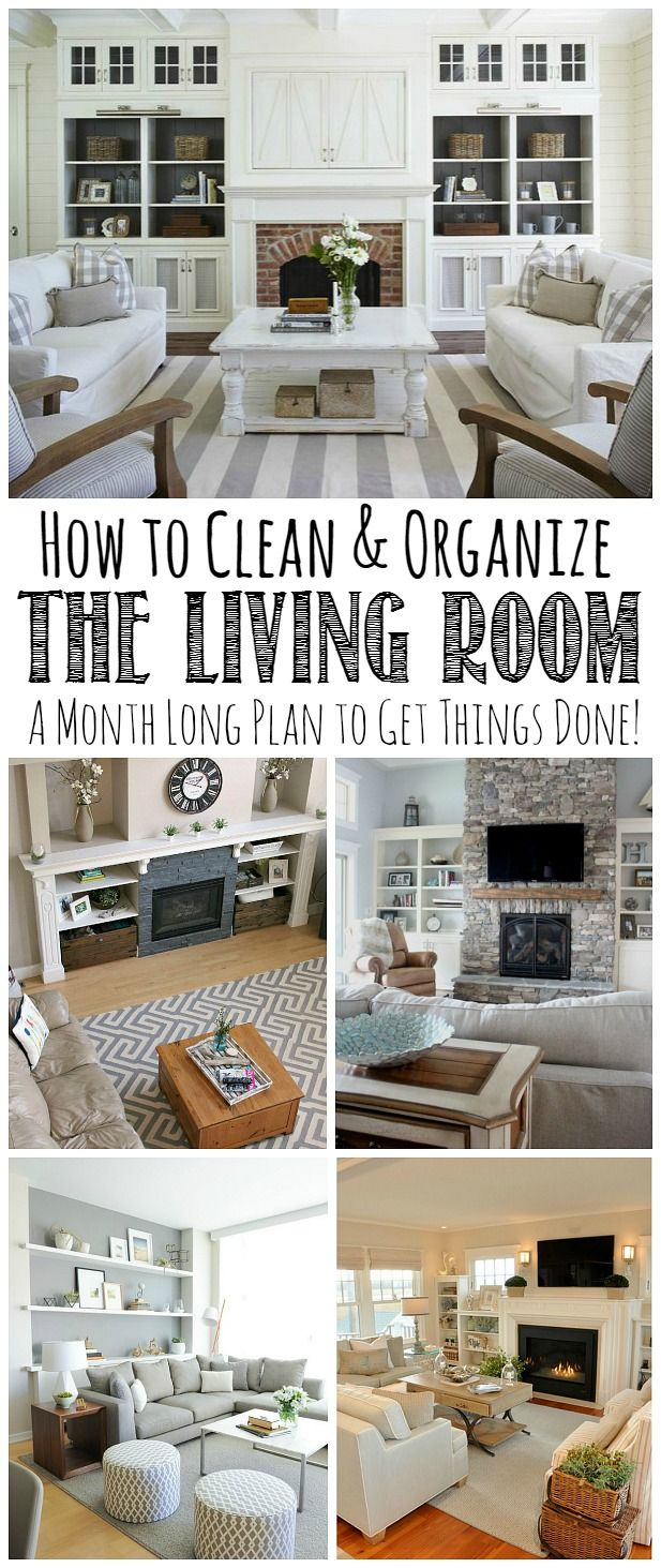 Follow This Month Long Plan To Clean And Organize The Living Room From Top  To Bottom