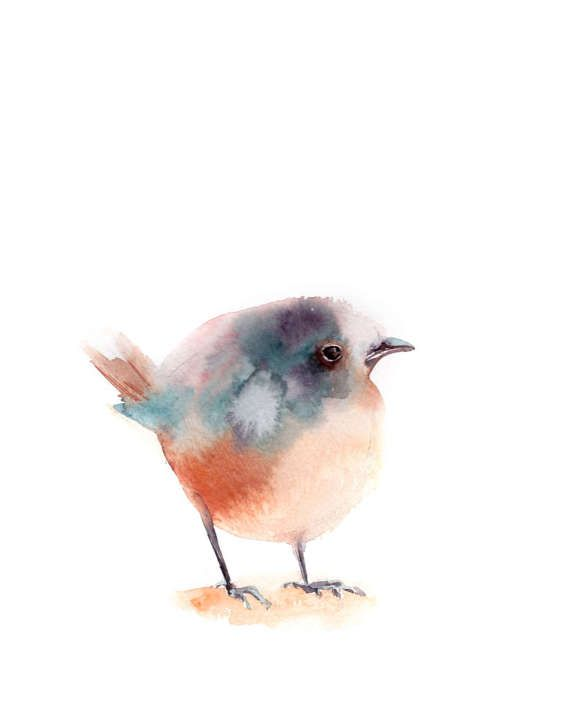 Robin Bird Watercolour Signed Limited Edition Print from Original Painting Erithacus rubecula Wildlife Artwork