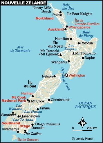 Nouvelle Zelande Nouvelle Zelande Voyage Nouvelle Zelande Carte