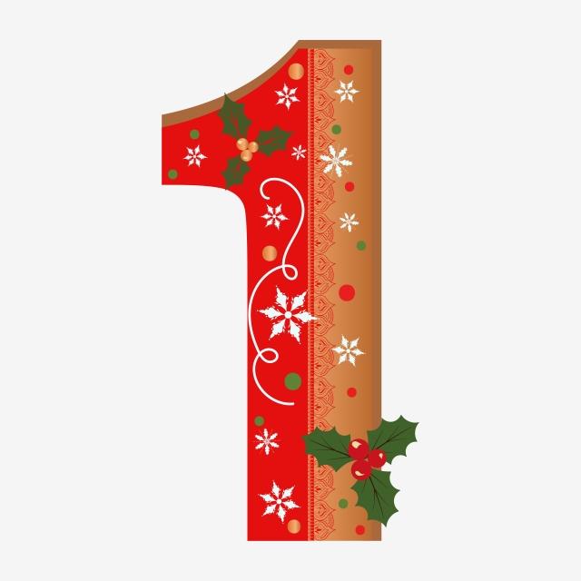 كعكة الزنجبيل رقم 1 مع الزهور يترك عيد الميلاد والثلوج Navidad Letras Abc