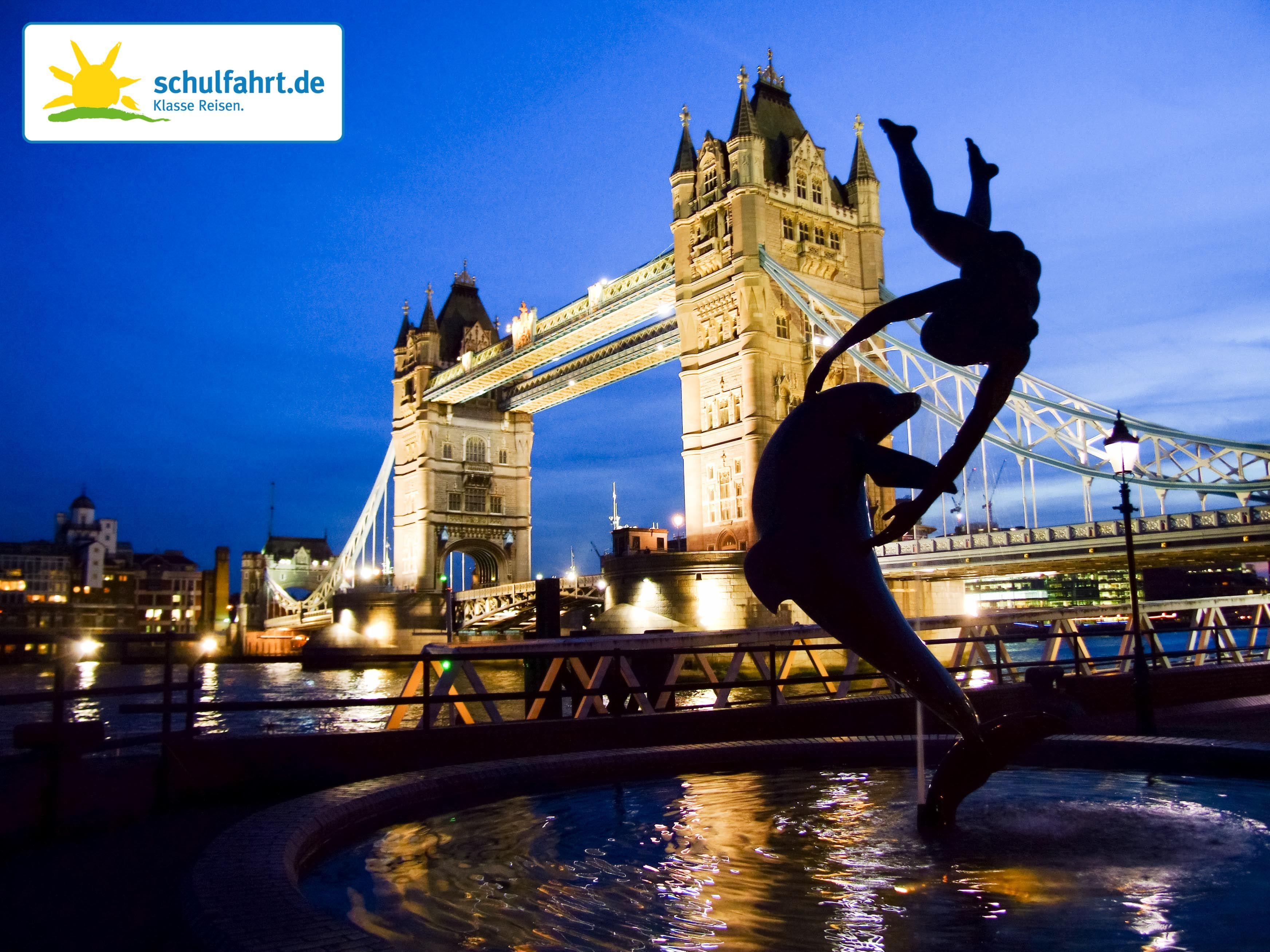 Die Tower Bridge kurz nach Sonnenuntergang. #London #Schulfahrt #Klassenfahrt