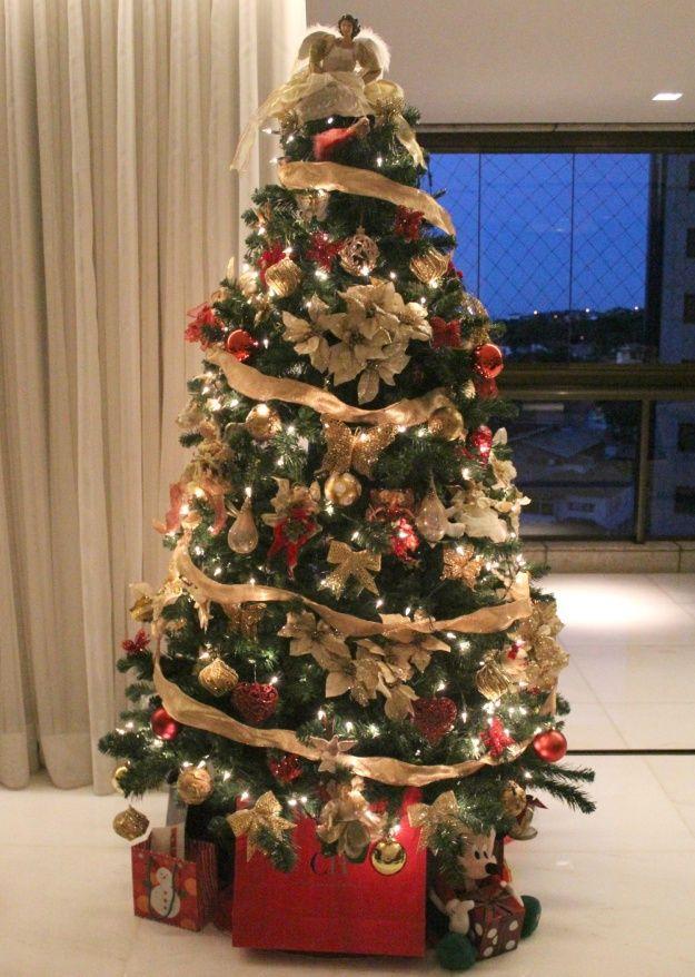 Arvore Natal Arvores De Natal Decoradas Ornamentacao De Natal