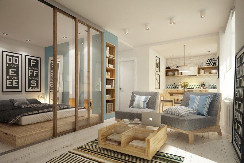Cozy Studio 40 Square Meters Apartment Interior Apartment