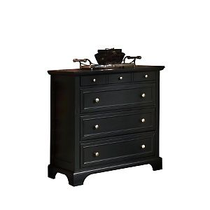Home Styles Bedford Four-Drawer Chest - Black at HSN.com ...