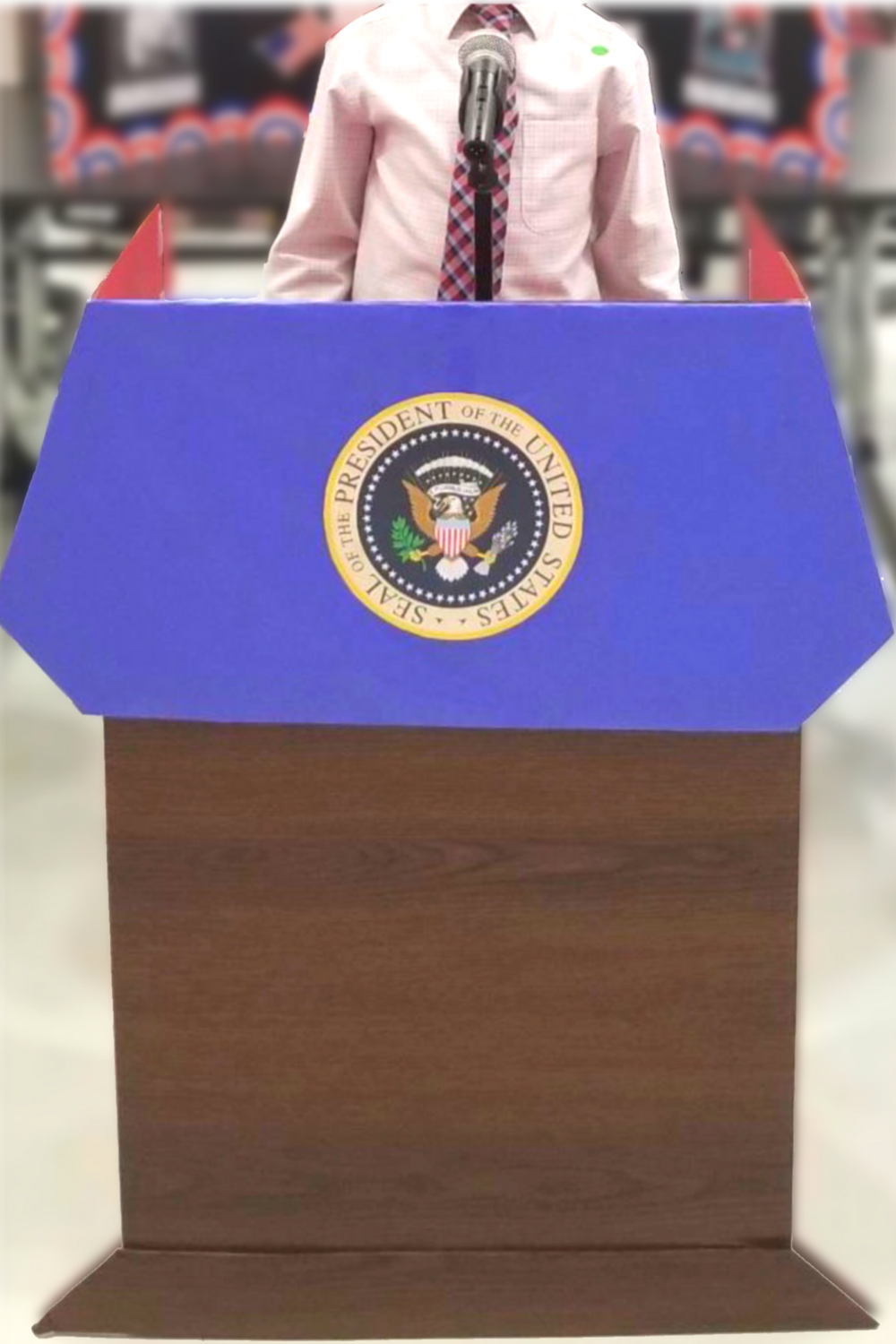How To Make A Presidential Podium Project Display Boards School Event Patriotic Crafts