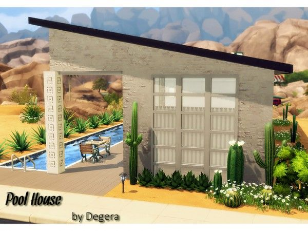 The Sims Resource: Pilar's Pool House by Degera • Sims 4 Downloads