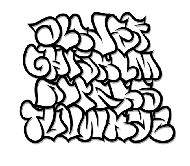 Bubble Letter Graffiti Fonts Design Oct 2013 Fat Letters Graffiti