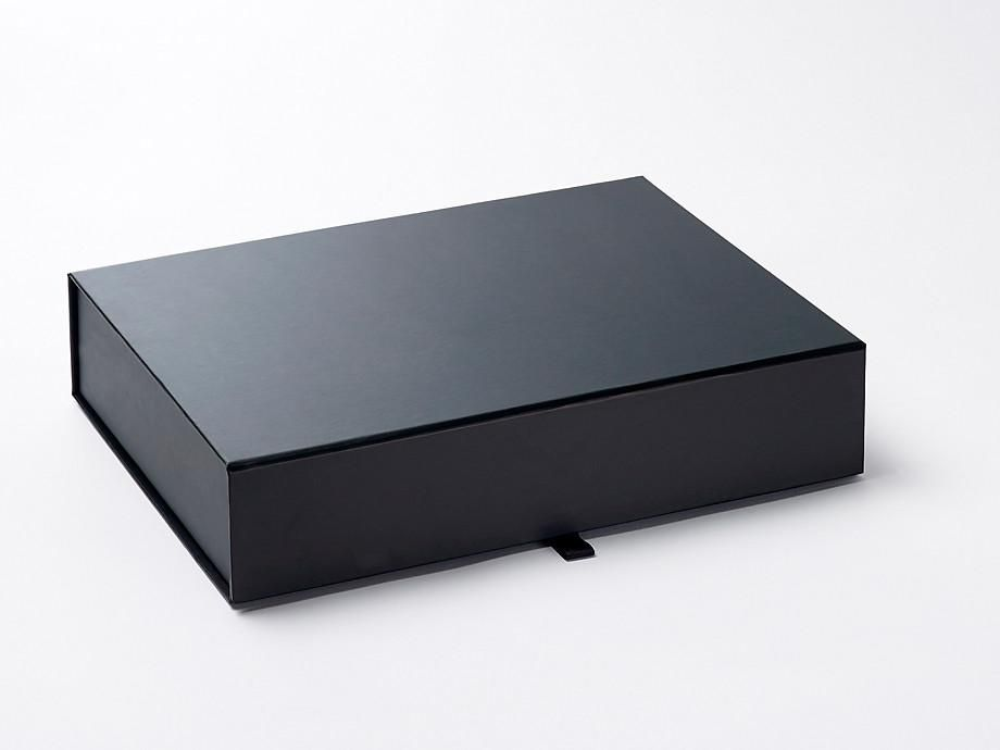 Black a4 shallow gift boxes gift box black