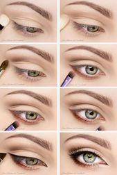 Eye Makeup Tutorial für prall gefüllte Augen – Makeup Vidalondon … – Makeu…
